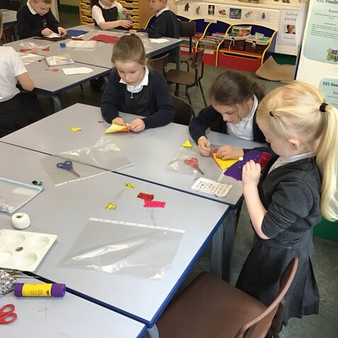 Class 2  Sewing Skills on Number Day
