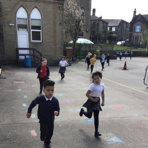 Class 2 Enjoying their 'Daily Mile'