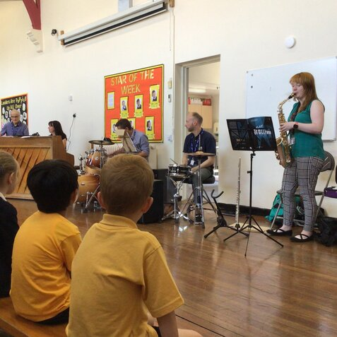 Visit from Calderdale Music Service