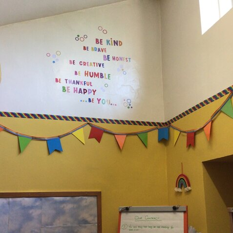 Mrs Edkins newly decorated pastoral room